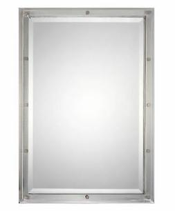 "Uttermost 09106 Manning - 32"" Mirror, Brushed Nickel Finish"