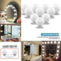 10 Bulbs Hollywood Style LED Vanity Dimmable Mirror Lamp Lig