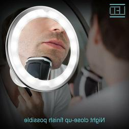 10X Magnifying Makeup Vanity Mirror LED Light Hand Mirrors T