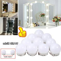 10X Makeup LED Vanity Dimmable Mirror Lamp Lights Kit Hollyw