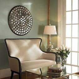 120 SMALL ROUND MIRRORS AGED METAL FRAME RAMSES MIRRORED WAL