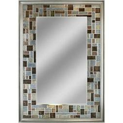 Head West 1200 24 x 36 in. Windsor Tile Mirror - Brush Nicke