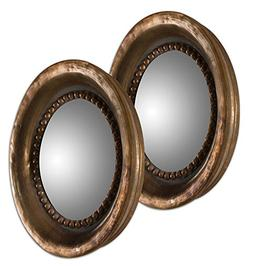 Uttermost 12847 Tropea Rounds Wood Mirror , Gray