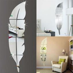 15 72cm acrylic mirror effect feather pattern