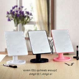 16/22 LED Light Vanity Makeup Cosmetic Mirror Touch Screen L