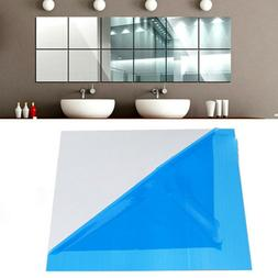 16x mirror tile wall sticker square self