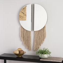 2 Piece Wall Mirror Set Home Art Decor Mirrors Modern Round