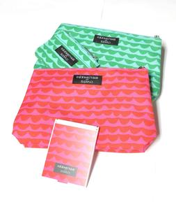 2 x marimekko for CLINIQUE Makeup Cosmetics Pouch with Mirro