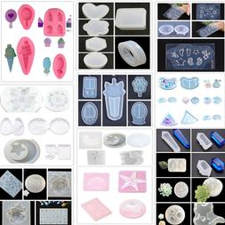 200 Silicone Resin Mold for DIY Jewelry Pendant Making Tool