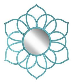 Kate and Laurel 208380 Brienne Metal Flower Round Wall Accen