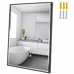 22x30 Mirror Wall Hanging Black Frame Mirrors For Bathroom L