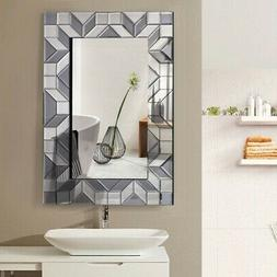 "23.5"" x 35.5"" Rectangular Wall-Mounted Wooden Frame Vanity G"