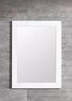 "24"" x 27.5"" Wooden Frame White Color Wall-mounted Vanity Mir"