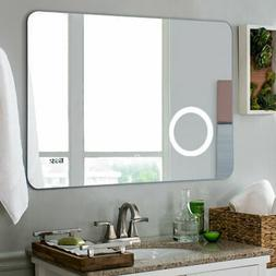 "31.5"" LED Wall-Mounted Mirror Makeup Bathroom Illuminated To"