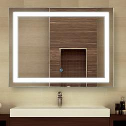 "HOMCOM 32"" LED Bathroom Wall Mirrors with Illuminated Light"