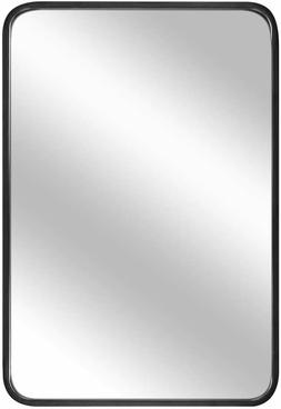"32"" x 20"" Wall Mirror, Large Bathroom Mirror, 1.2"" Black"