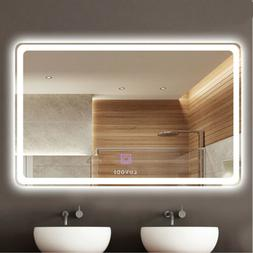 32X24 Inch Wall Mount Led Lighted Bathroom Mirror Vanity Def