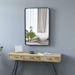 "35.8 x 24.2"" Wall Mirror with Black Frame Hanging Mirrors fo"