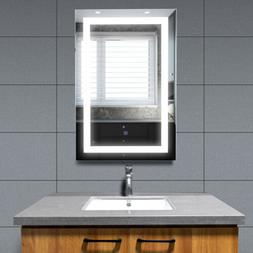 """36""""x24"""" Wall Mounted Illuminated Bathroom Mirror Touch Butto"""
