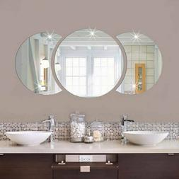 3D Mirror Wall Stickers Decals Mural Bathroom Living Room Ho
