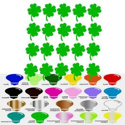 40 Four Leaf Clover Decal Stickers for Home Door Stair Windo