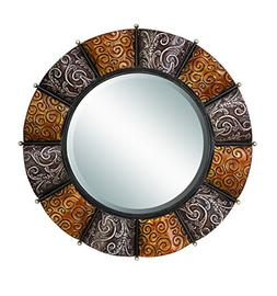 Benzara 42714 Metal Mirror 32 in. D