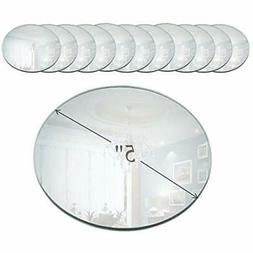 5 Accent Plates Inch Round Mirror Candle With Beveled Edge S
