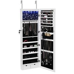 6 leds cabinet lockable wall