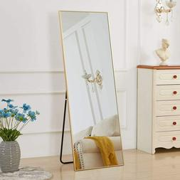 Gold Full Length Mirror Bedroom Floor Mirror Standing Hangin
