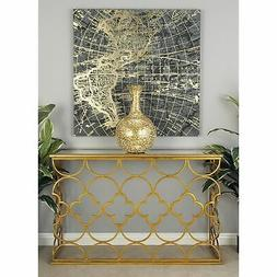 Deco 79 67050 Metal Mirror Console Table- 49 by 31-Inch NEW
