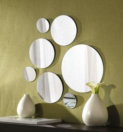 7 Mirror Round Set Wall Mount Decor Modern Home Bathroom Mir