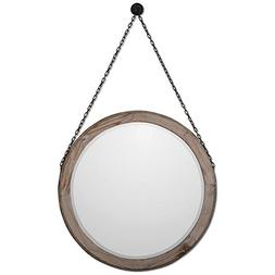 7656 loughlin round wood mirror