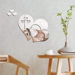 7PCS Mirror Sticker Creative Wall Sticker Mirror Sheet for V