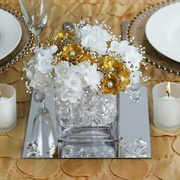 """8"""" Square Glass Mirror Wedding Party Table Decorations Cente"""