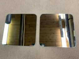 """8"""" Square Glass Mirrors for Craft, Wood Working Projects Set"""