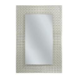 Head West 8330 24 x 30 in. Off White Etched Geometric Wall M