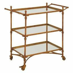 87441 metal mirror bar cart