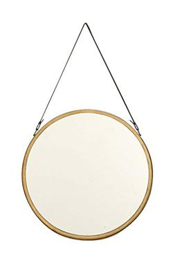 98730 round metal wall mirror