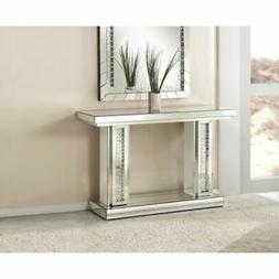 Acme Furniture Nysa Mirrored Wood Console Table