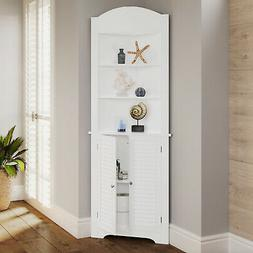 Ellsworth Collection - Tall Corner Cabinet - White