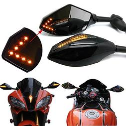 Pair of Motorcycle Led Turn Signal Integrated Indicator Rear