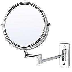 "SONGMICS 8"" Two-Sided Wall Mount Makeup Mirror 360° Swivel"