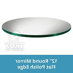 """Set of 10 - 12"""" Round Glass Table Mirrors for Wedding and Pa"""