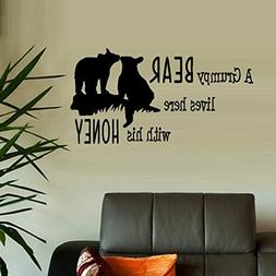 BestPricedDecals A Grumpy Bear Lives here with his Honey ~ W