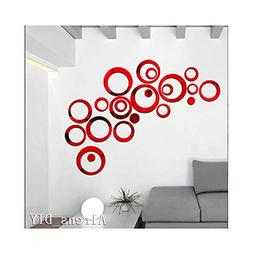 Alrens_DIY 22pcs Rounds Dots Circles Mirror Surface Crystal
