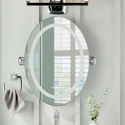Anti-Fog Oval LED Lighted Wall Mounted Mirror with Touch Scr