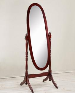 Antique Floor Mirror Wood Bedroom Full Length Cheval Free St