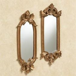 Antique Gold Accent Wall Mirrors Mirror Set Home Decor Shabb