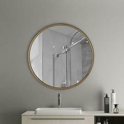 Wall Mounted Round Mirror Nordic Gold Style Geometric Mirror