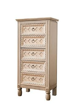 Hives and Honey 1004-061 Abby Jewelry Armoire, 40.25in X 19.